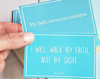 Be Strong Affirmation Cards - Printable - Affirmation Cards - For Christians
