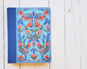 ESV Single Column Journaling Bible - Gold Accents - Journaling Bible - Blue