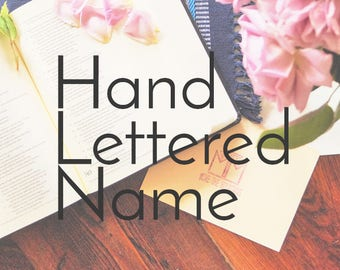 Personalized Bible Name - Hand Lettered - Personalized Bible - Christian Gift