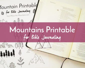 Bible Journaling Traceable - Mountains - Bible Journaling - Easy-to-Print