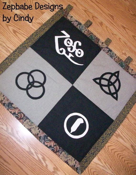 Led Zeppelin Four Symbols Wallhanger Etsy