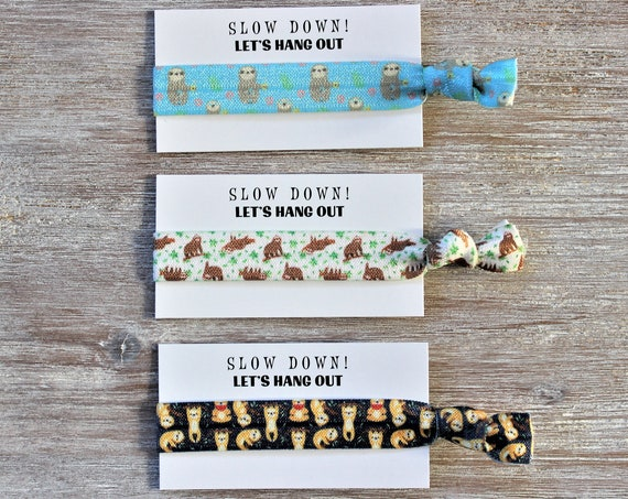 Sloth Blue-Sloth White-Sloth Navy Blue-Hair Ties-Slow Down! LET'S HANG OUT