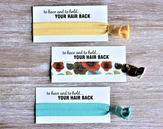 Yellow-Floral-Turquoise-Hair Ties