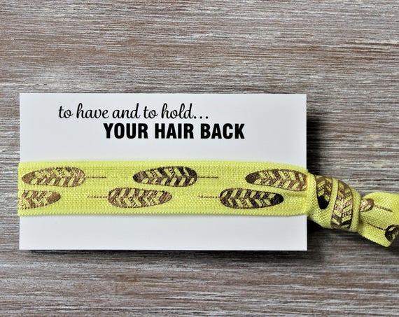 Gold Leaf Yellow Hair Ties