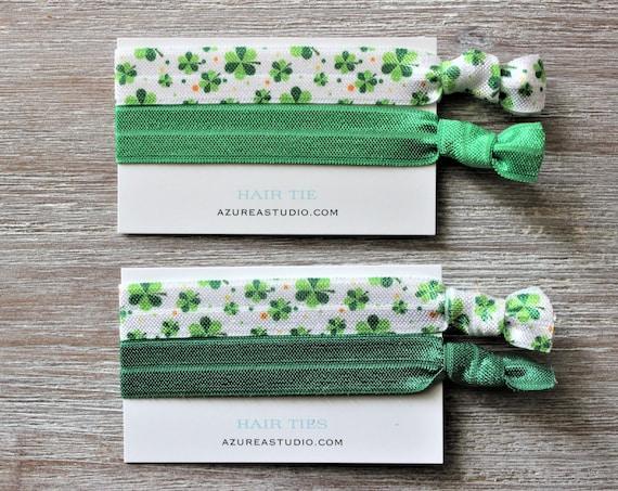 Clover Green-Emerald Green-Forest Green-Hair Ties Set
