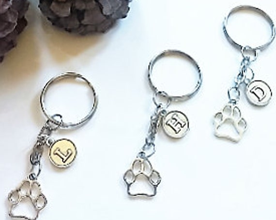 Key-Chain Letter Personalized Paw