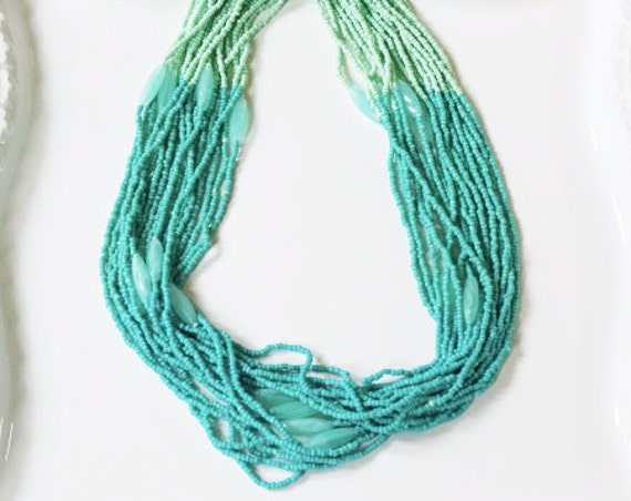 Mint Green Turquoise Beaded Necklace