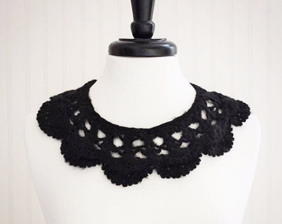 Black Crochet Neck Collar