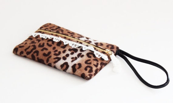 Leopard Fabric Pouch