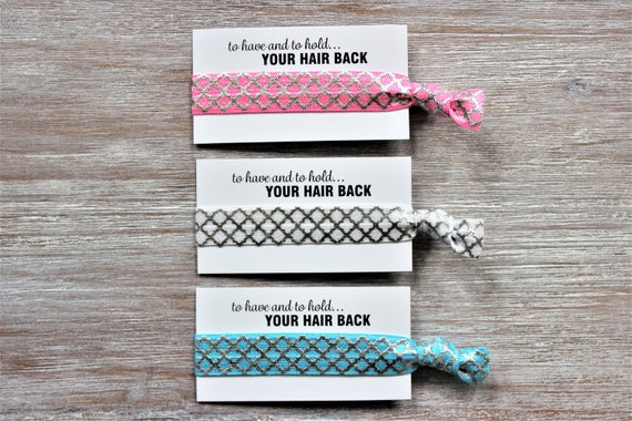 Silver Lattice-Pink-White-Blue-Hair Ties