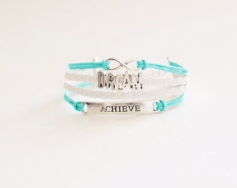 Infinity Dream Achieve Light Turquoise Bracelet