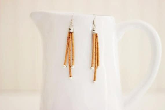 Cork Tassle Earrings