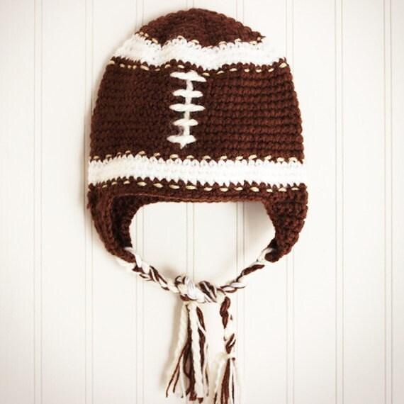 Football Crochet Baby Beanie/ Crochet Hat/ Baby Beanie