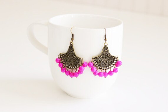Orchid Tibetan Earrings
