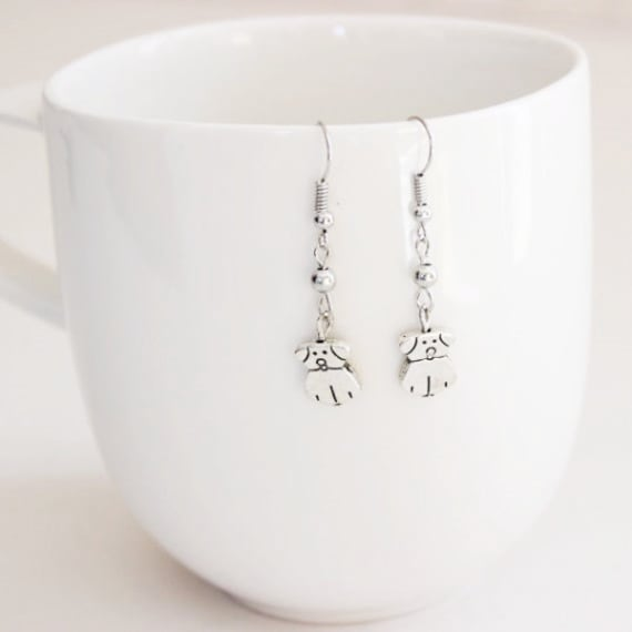 Dog Dangle Earrings