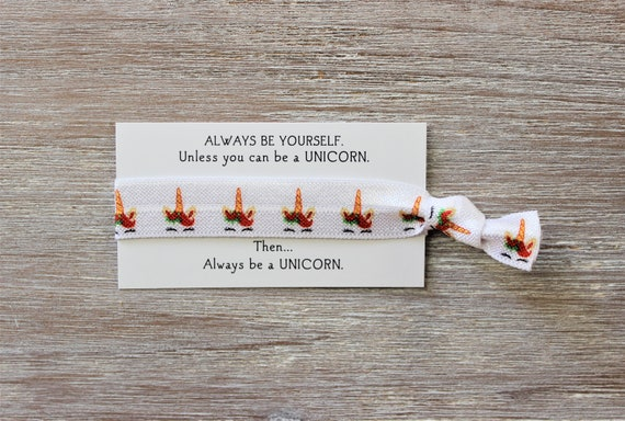 Unicorn Lashes Red Green Hair Tie