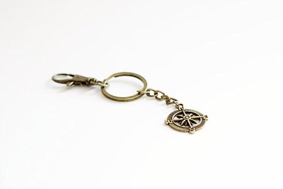 Compass Keychain Antique bronze