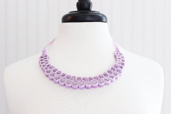 Lilic Velvet Crystal Bead Necklace