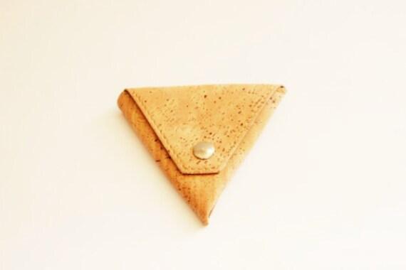 Cork Triangle Coin Bag