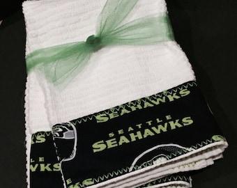 Seattle Seahawk Hand Towels