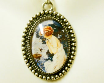 Finding a bird nest pendant and chain - BAP05-049