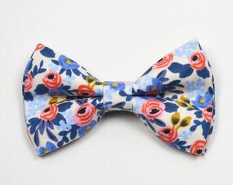 c5861eb438eea Floral bow tie   Etsy