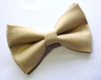 Beige bow tie/Khaki Bow Tie, baby bow tie, boys bow tie ,adult bow tie,groomsmen bow tie, men's bow tie, wedding bow tie