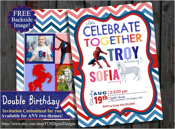 Double Birthday Party Invitation