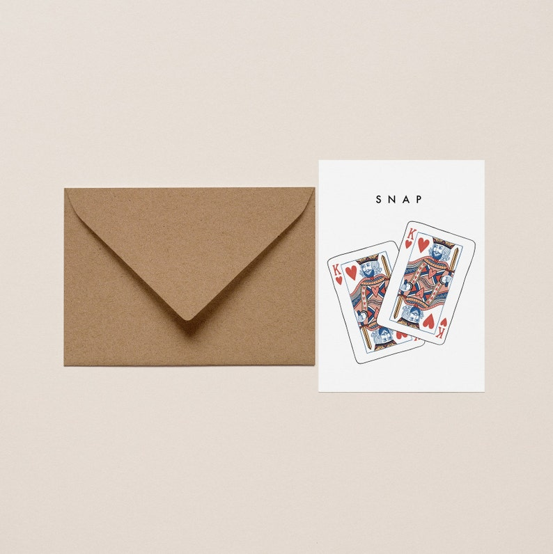 Quirky Valentines Day LGBTQ+ Valentines Day card Playing cards Gay valentines day card Cards for him Snap card Love card