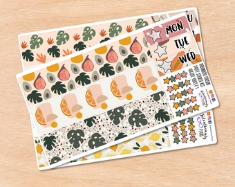 August Vibes - Hobonichi Cousin Daily Sticker Kit   Planner Stickers  UK