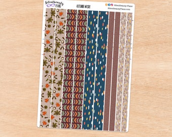 Washi Strip Decorative Stickers -  UK Stickers for Planners