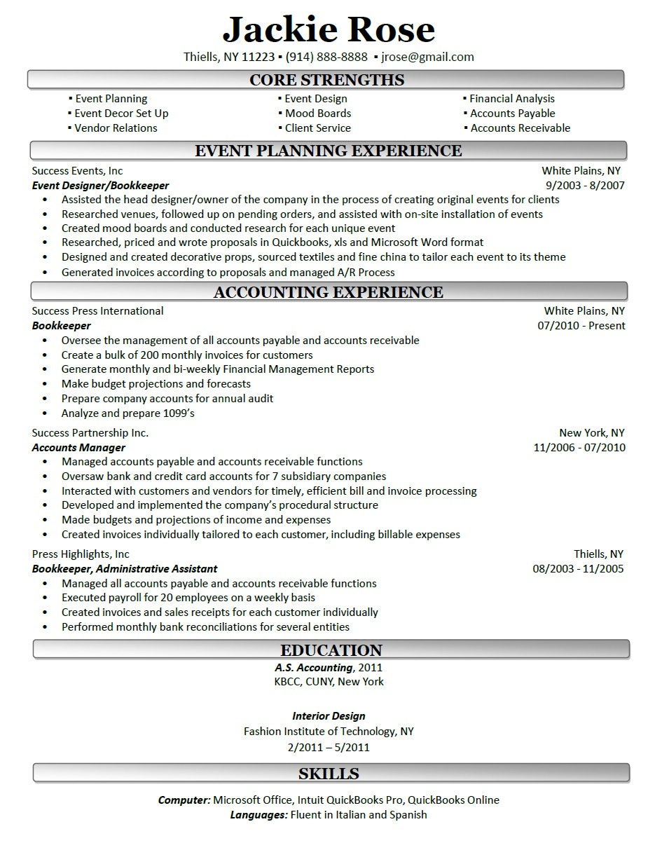 Professional resume writing nj