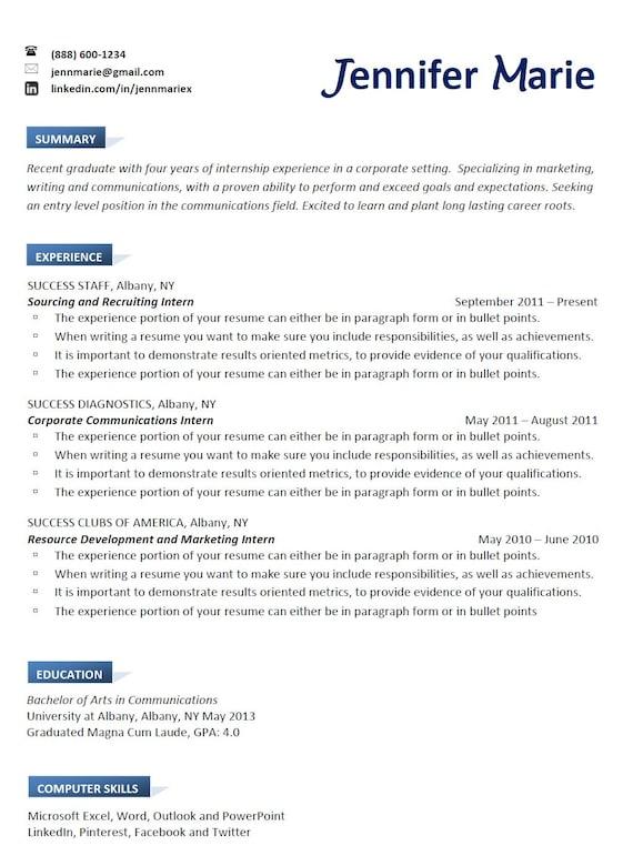 Professional Resume Writing Resume Help Job Search | Etsy