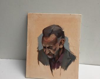 Head study original oil painting on panel
