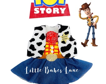 141b34a7d Woody Inspired Romper & Vest / Toy Story / Wood / Disney / Costume