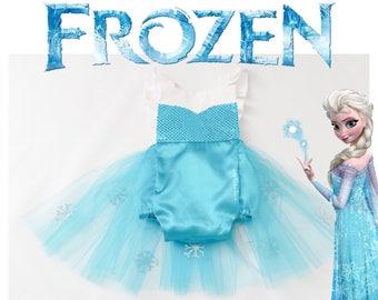aa7ebdfa269c7 Elsa Inspired Romper, baby romper, toddler romper, Elsa dress, Disney dress,  Elsa costume, princess romper, Frozen birthday, tutu dress
