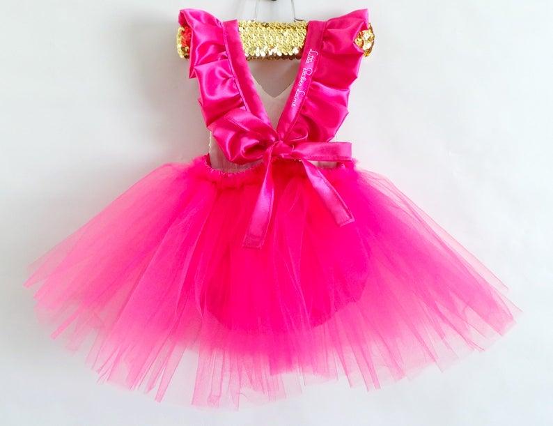 30da0b89a Hot Pink Princess Romper baby romper toddler romper tutu | Etsy