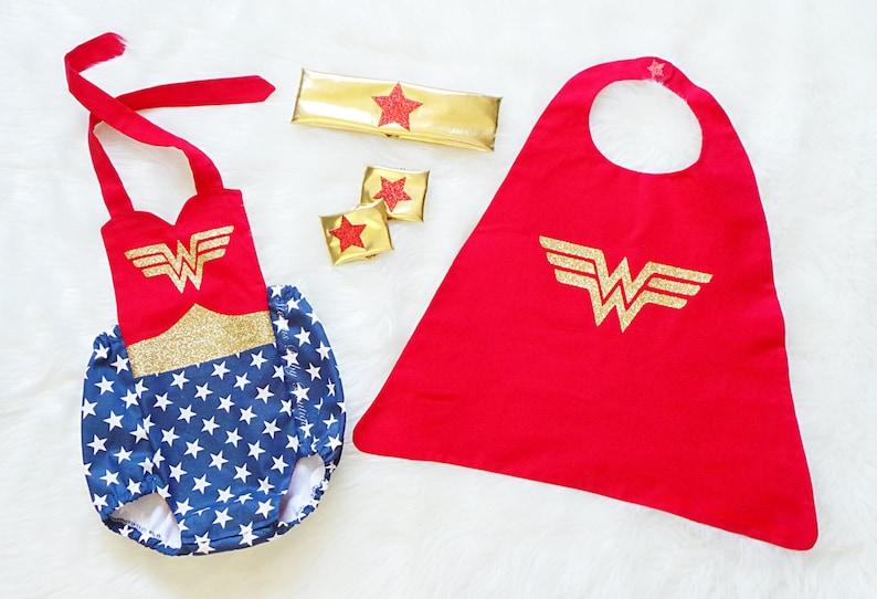 Wonder Women Inspired Romper baby romper toddler romper image 0