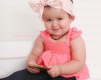 Coral Top / Halter Top / Baby / Girl / First Birthday