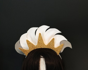 Ursula Headband Hair Costume, Ursula Crown, Ursula Halloween, Ursula Mermaid Costume, Sea Witch Cosplay, Triton Crown,