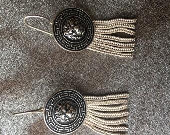Boho silver earrings