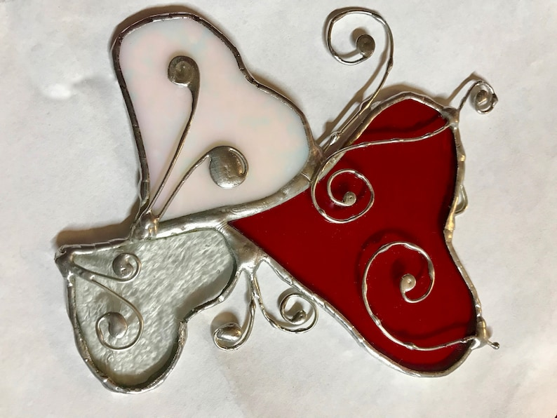 3 Hearts Stained Glass