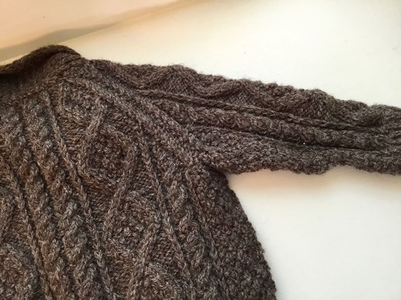 Vintage Child's Hand Knit Irish Aran Wool Cardiga… - image 9
