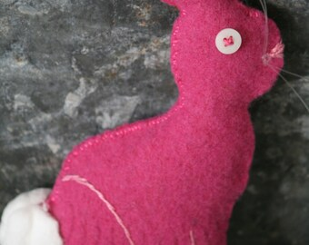 Felted Wool Bunny Ornament/Bowl Filler