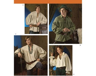 Shirts for Frontiersman Colonial or Pirate Costumes - Simplicity 3519  sc 1 st  Etsy & Colonial costumes | Etsy