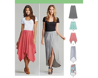 5272732b6e084 Misses  Pull-On Knit Skirts with Length Variations - Simplicity 1201