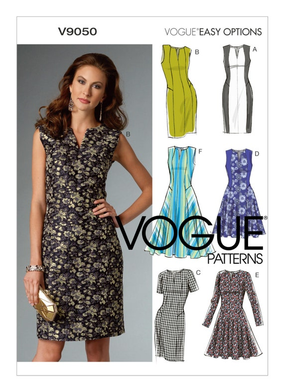 d312a603735 Misses  Misses  Petite Notch-Neck Dresses Vogue