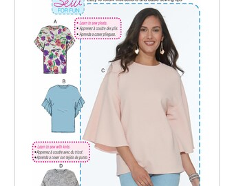 Loose Fitting Misses' Tops - McCall's M7721