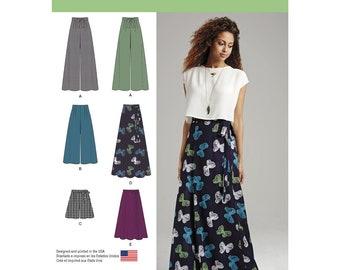 Wide-Leg Pants or Shorts & Wrap Skirt - Simplicity 1069 Misses'