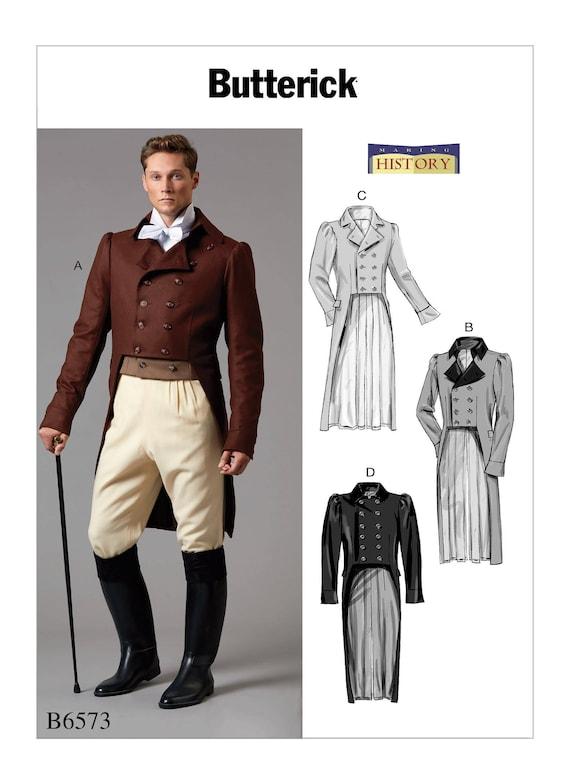 Gentleman Jim Frock Coat 19TH siècle Victorienne Dickens Steampunk Costume Veste